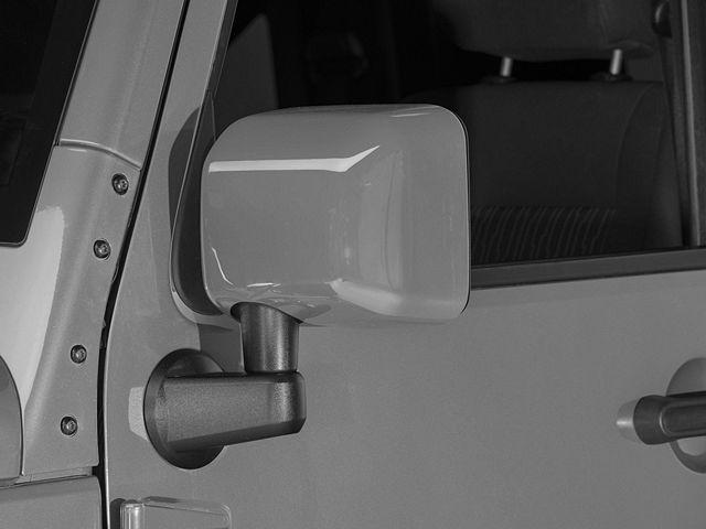 RedRock 4x4 Mirror Covers; Pre-Painted (07-18 Jeep Wrangler JK)