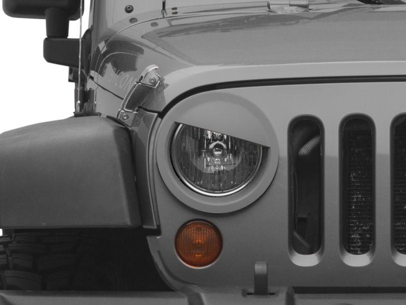 MMD Angry Eyes Headlight Conversion - Unpainted (07-18 Jeep Wrangler JK)