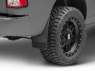 Weathertech No Drill Front & Rear MudFlaps - Black (09-18 w/o Fender Flares)