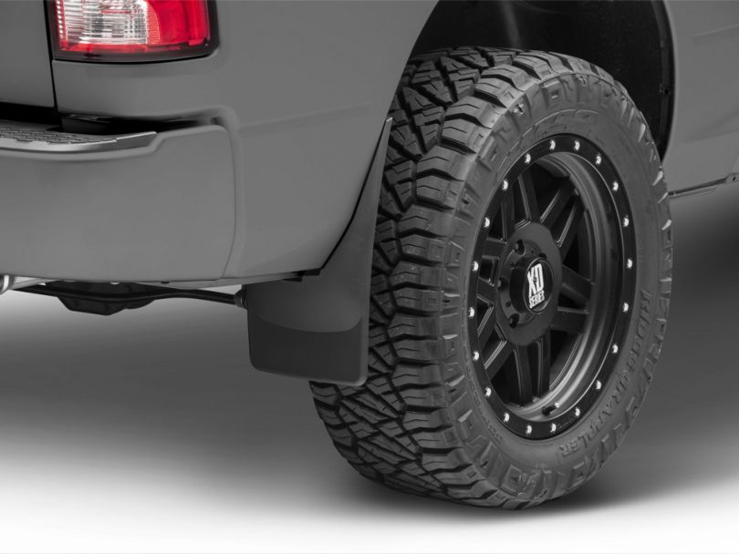 Weathertech No Drill Front & Rear Mud Flaps - Black (09-18 RAM 1500)