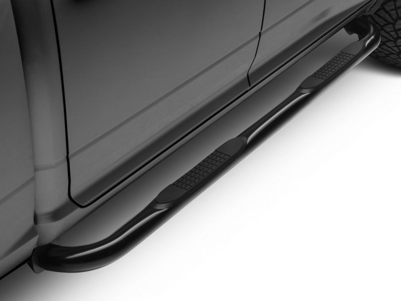 Barricade 3-Inch Side Step Bars; Black (09-18 RAM 1500)