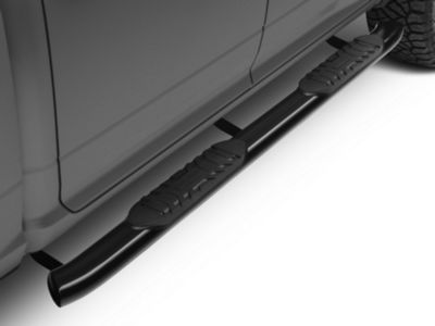 Barricade 5 in. Oval Bent End Side Step Bars - Black (09-18 RAM 1500 Crew Cab)