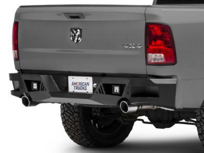 Barricade Extreme HD Rear Bumper w/ LED Spot Lights - Textured Black (09-18 RAM 1500)