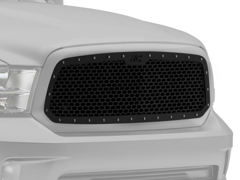 Rough Country Mesh Upper Grille Insert; Black (13-18 RAM 1500, Excluding Limited & Rebel)