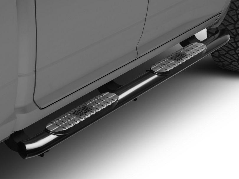4 in. Pro Traxx Oval Side Step Bars - Black (09-18 RAM 1500 Quad Cab, Crew Cab)