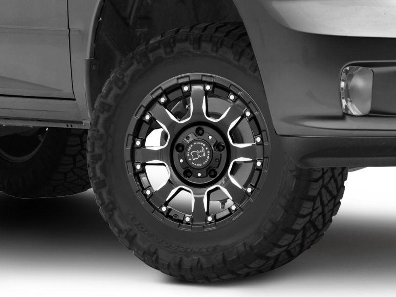 Black Rhino Sierra Gloss Black Milled 5-Lug Wheel - 17x9; 0mm Offset (09-18 RAM 1500)