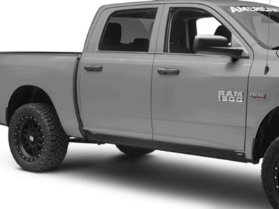 New Trail Armor Rocker Panel Cover Guard Molding Sill Trim For Dodge Ram 1500 2500 3500 Pickup Crew Cab 2009-2018 Matte Black Textured Finish Replaces 14064