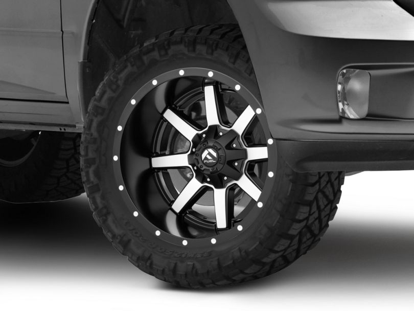 Fuel Wheels Maverick Matte Black Machined 5-Lug Wheel; 20x12; -44mm Offset (09-18 RAM 1500)
