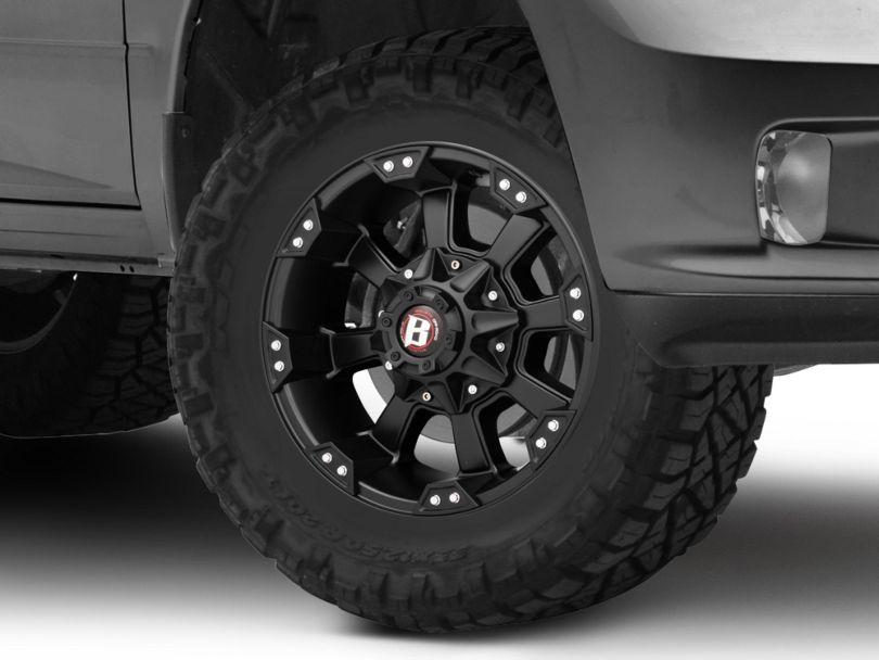 Ballistic Morax Flat Black 5-Lug Wheel - 17x9 (02-18 RAM 1500, Excluding Mega Cab)