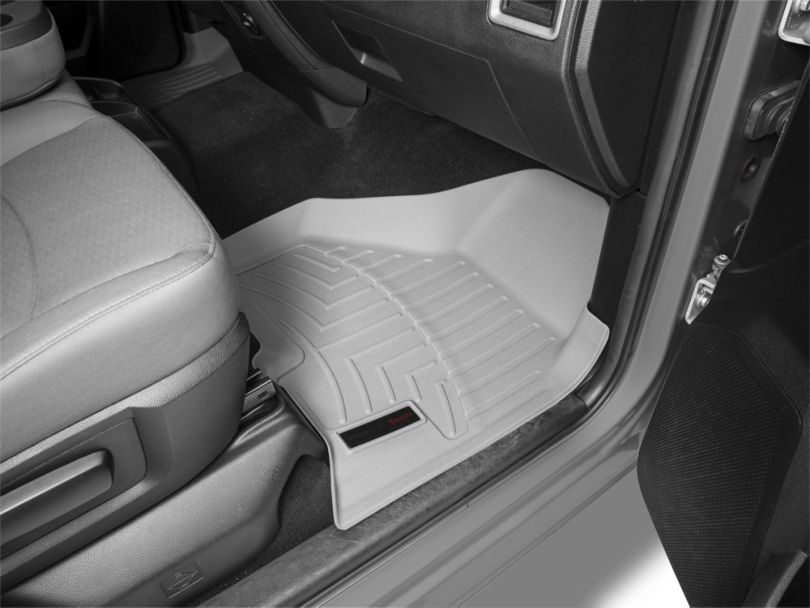 Weathertech DigitalFit Front & Rear Floor Liners - Gray (09-18 RAM 1500 Crew Cab)