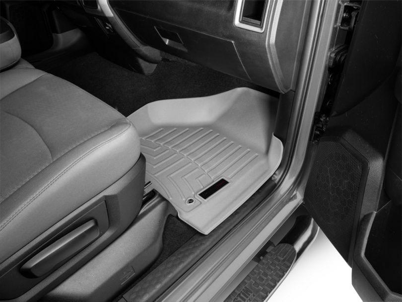 Weathertech DigitalFit Front & Rear Floor Liners - Gray (09-18 RAM 1500 Quad Cab)
