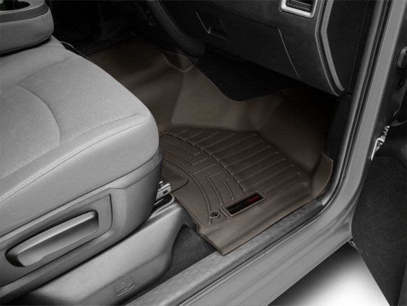 Weathertech DigitalFit Front Over the Hump & Rear Floor Liners - Cocoa (12-18 RAM 1500 Crew Cab)
