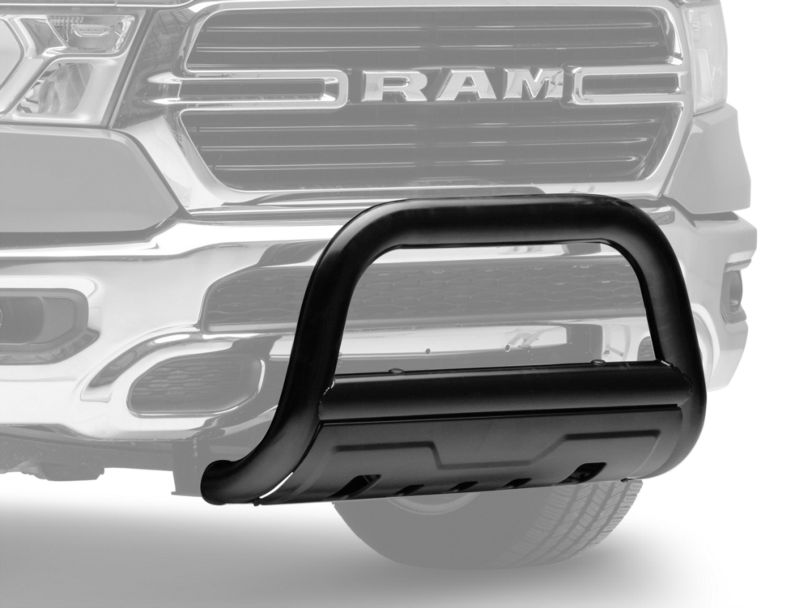 Barricade 3.50-Inch Oval Bull Bar with Skid Plate; Black (19-20 RAM 1500, Excluding Rebel)