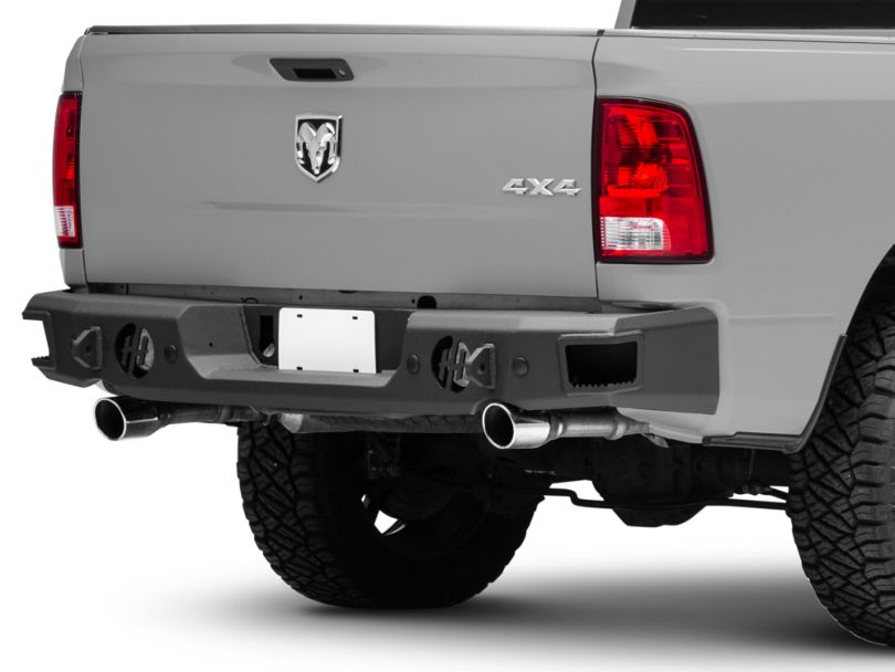 Hammerhead Rear Bumper w/ Round Reverse Light Cutouts (09-18 RAM 1500 w/ Factory Dual Exhaust)