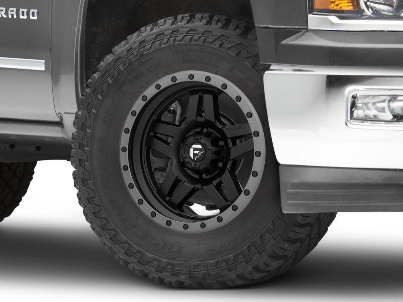 Fuel Wheels Anza Matte Black w/ Anthracite Ring 6-Lug Wheel - 18x9; 1mm Offset (14-18 Silverado 1500)
