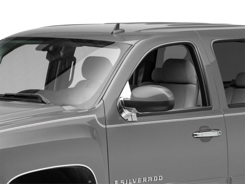 Chrome Mirror Base Covers (07-13 Silverado 1500 w/o Tow Mirrors)