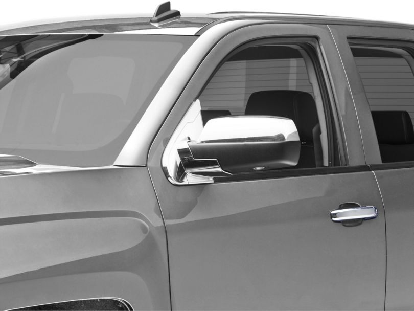 Chrome Mirror Base Covers (14-18 Silverado 1500 w/o Tow Mirrors)