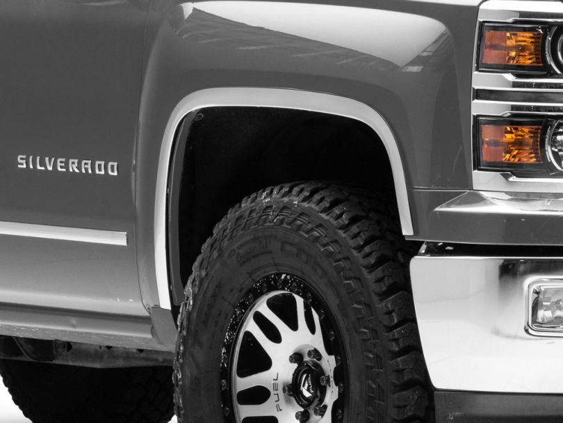 Stainless Steel Fender Trim - Polished (14-18 Silverado 1500)