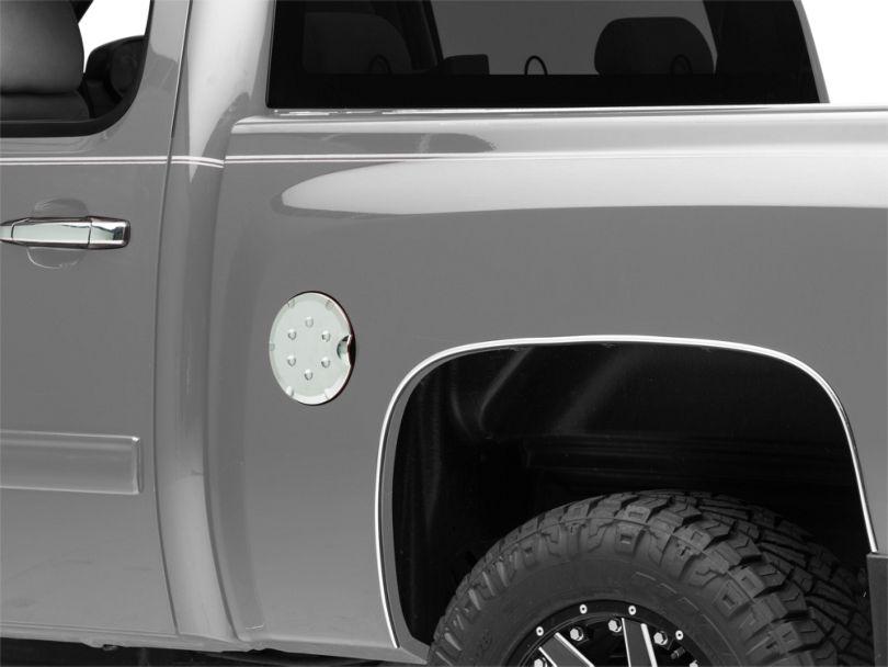 Fuel Tank Door Cover - Chrome (07-13 Silverado 1500)