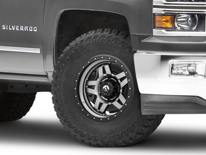 Fuel Wheels Anza Anthracite w/ Black Ring 6-Lug Wheel; 17x8.5 (99-20 Silverado 1500)
