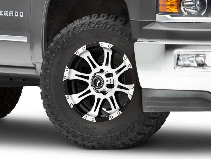 Raceline Raptor Black Machined 6-Lug Wheel - 18x9 (99-19 Silverado 1500)