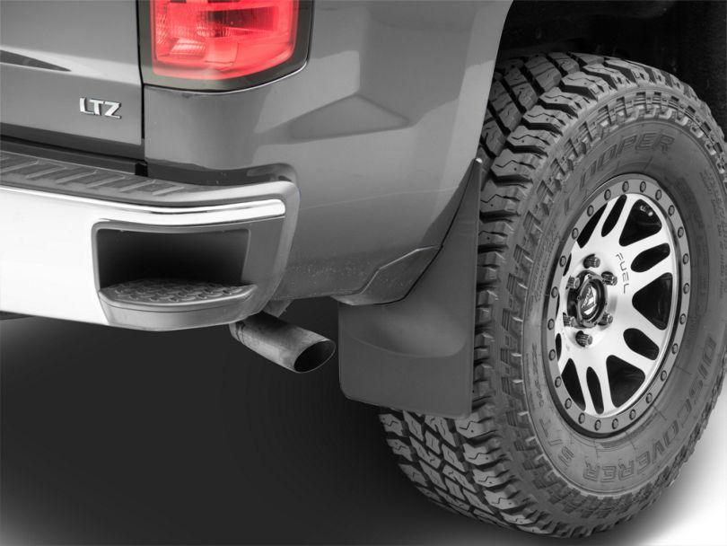 Weathertech No Drill Rear Mud Flaps - Black (14-18 Silverado 1500 w/o Fender Flares)