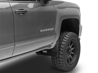 Weathertech No Drill Front & Rear MudFlaps - Black (14-18 Silverado 1500 w/o Fender Flares)