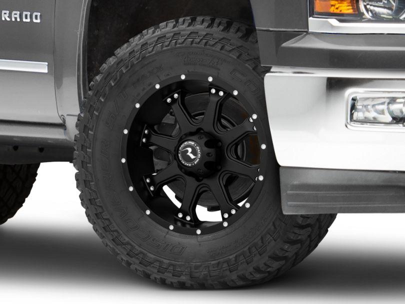 Raceline Assault Black 6-Lug Wheel; 18x9 (99-20 Silverado 1500)