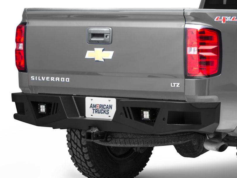 Barricade Extreme HD Rear Bumper with LED Flood Lights (07-18 Silverado 1500)