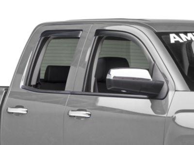 Weathertech Front & Rear Side Window Deflectors - Light Smoke (14-18 Silverado 1500 Crew Cab)