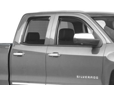 Weathertech Front & Rear Side Window Deflectors - Dark Smoke (14-18 Silverado 1500 Double Cab)