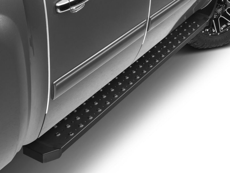 Barricade Rattler Running Boards; Textured Black (07-13 Silverado 1500)