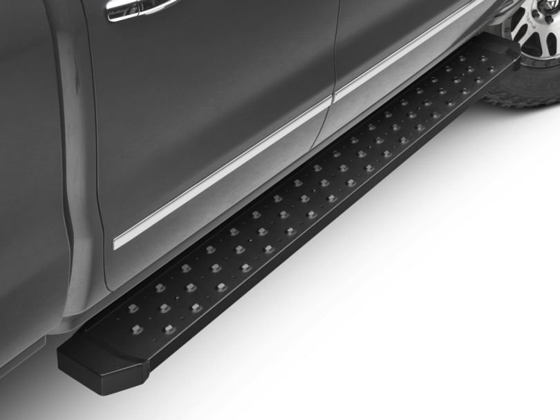 Barricade Rattler Running Boards - Textured Black (14-18 Silverado 1500)