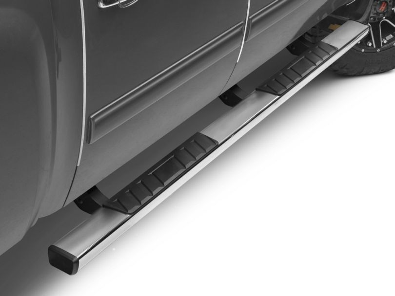 Barricade T4 Rocker Mount Side Step Bars - Stainless Steel (07-13 Silverado 1500 Extended Cab, Crew Cab)