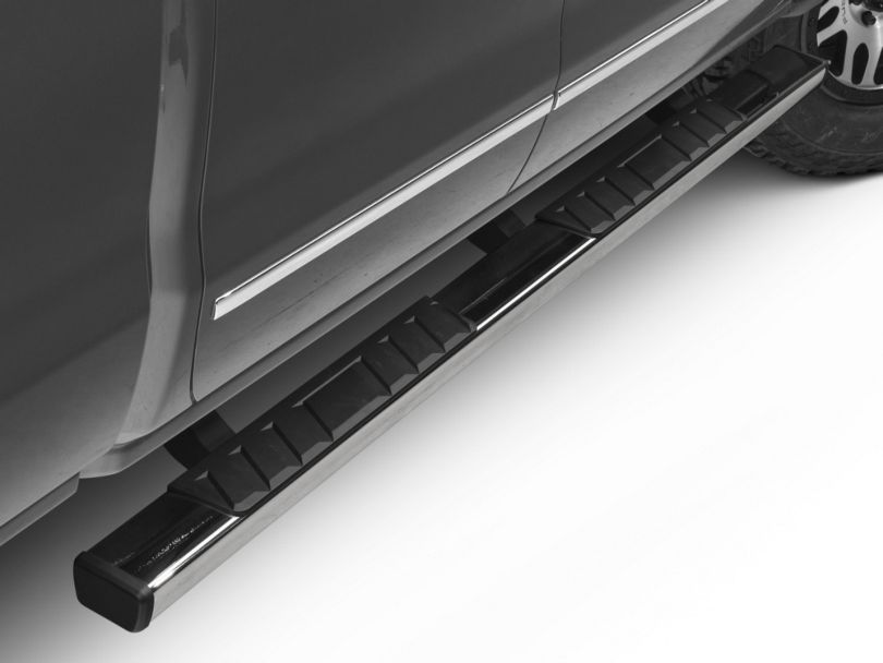 Barricade T4 Side Step Bars; Rocker Mount; Stainless Steel (14-18 Silverado 1500 Double Cab, Crew Cab)