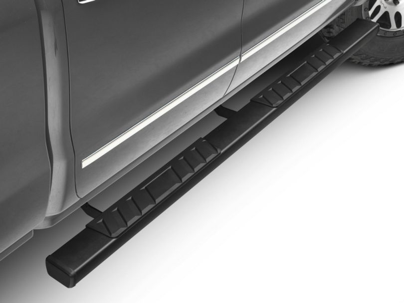 Barricade T4 Side Step Bars; Rocker Mount; Black (14-18 Silverado 1500 Double Cab, Crew Cab)