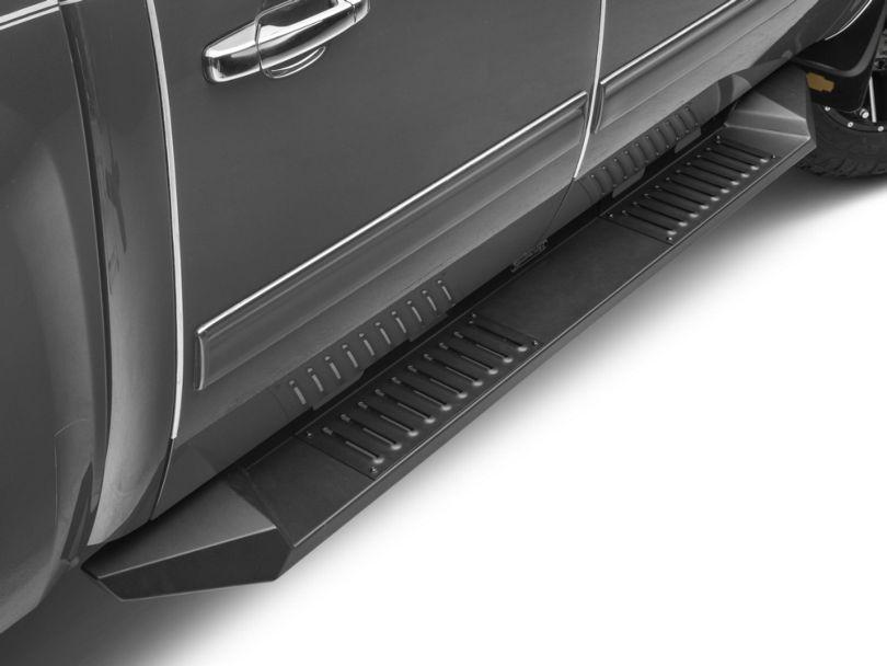 Barricade HD Steel Running Boards - Black (07-13 Silverado 1500 Crew Cab)