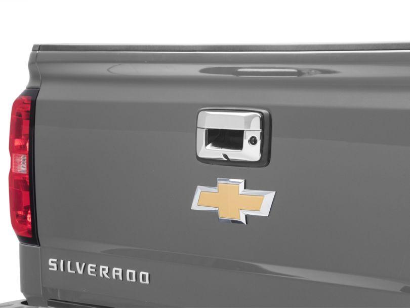 Tailgate Handle Cover; Chrome (14-18 Silverado 1500)