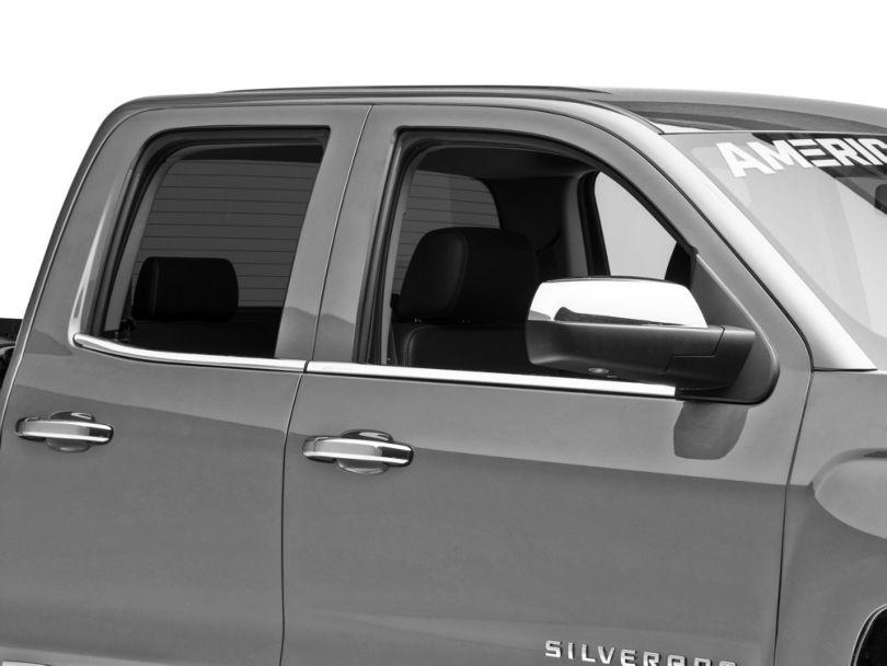 Putco Stainless Steel Window Trim w/ Bowtie Logo (14-18 Silverado 1500)