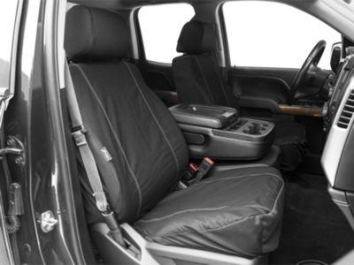 Fia Custom Fit Poly-Cotton Front Seat Covers - Black (14-18 Silverado 1500 w/ Bucket Seats)
