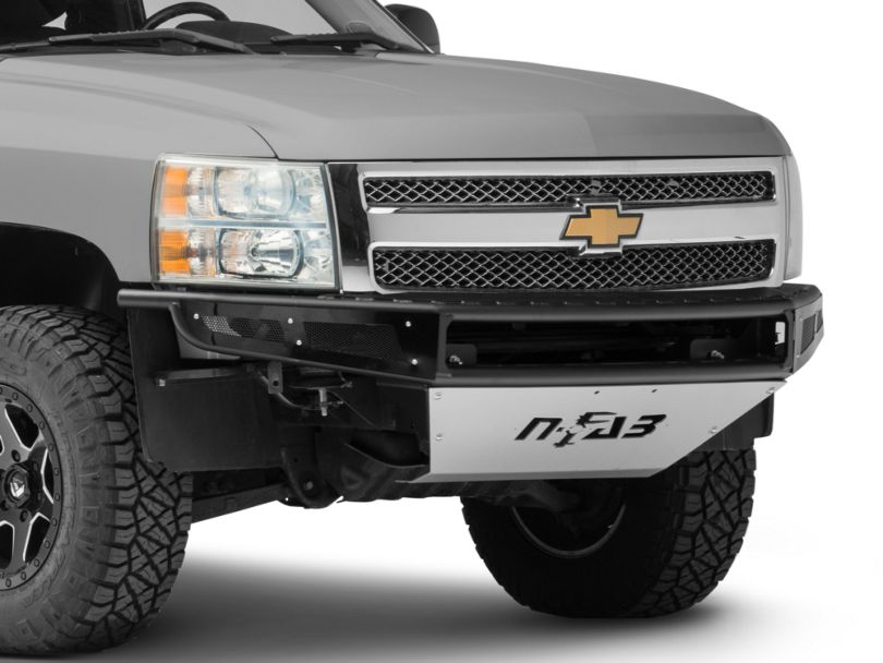 N-Fab M-RDS Radius Pre-Runner Front Bumper w/ Multi-Mount for LED Lights - Textured Black (07-13 Silverado 1500)