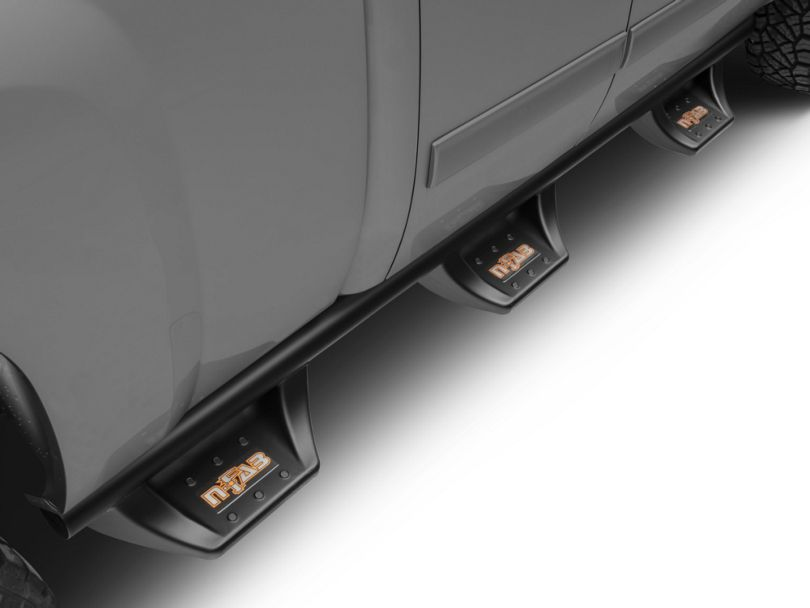 N-Fab Wheel 2 Wheel N-Durastep Bed Access Side Step Bars; Semi-Gloss Black (07-13 Silverado 1500 Extended Cab w/ Standard & Long Box, Crew Cab)