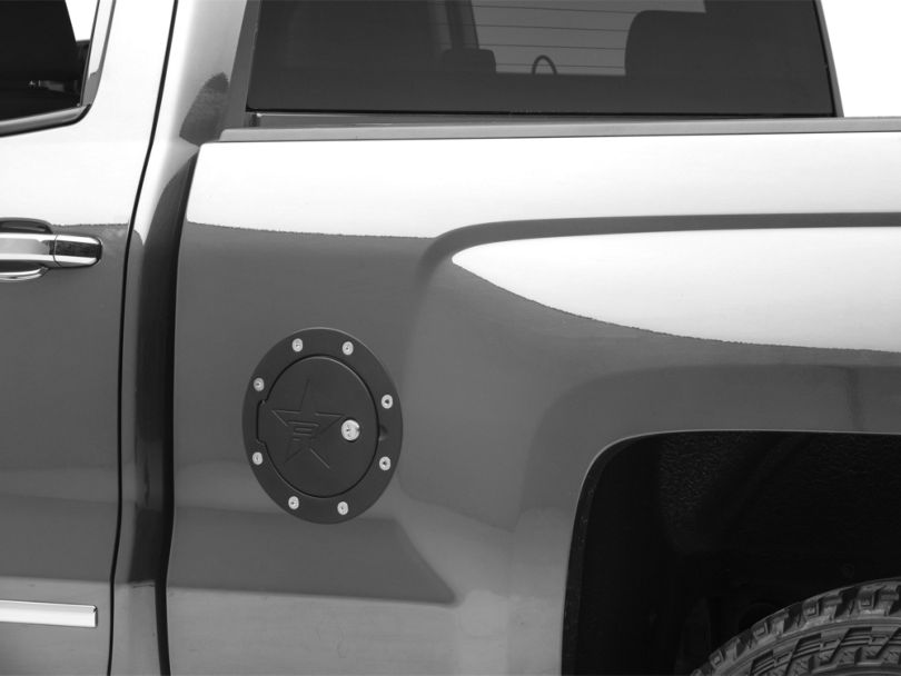 RBP RX-2 Series Locking Fuel Door - Black (14-18 Silverado 1500)
