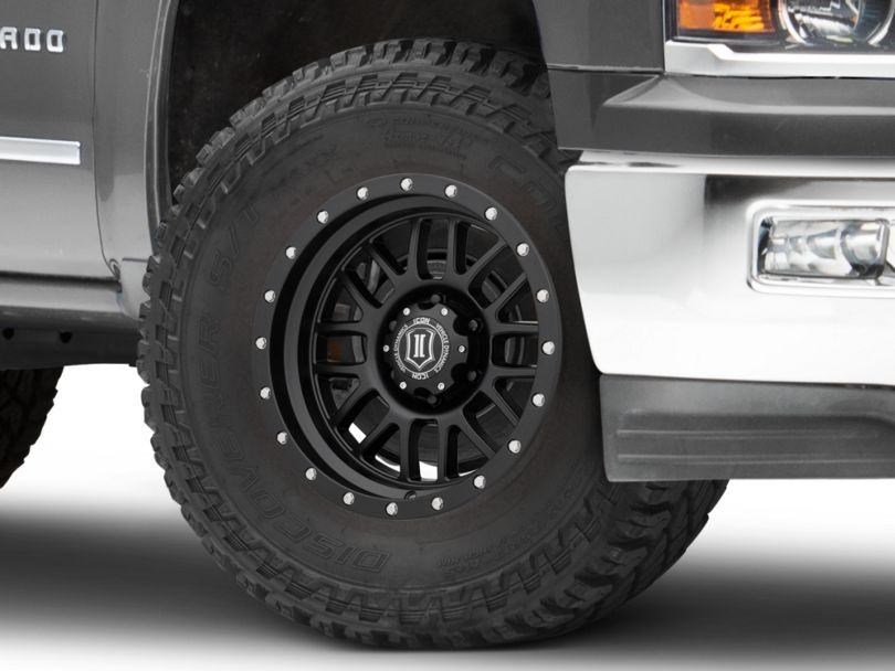 ICON Vehicle Dynamics Alpha Satin Black 6-Lug Wheel - 17x8.5; 0mm Offset (19-20 Silverado 1500)