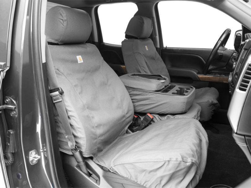 Covercraft Carhartt SeatSaver Front Seat Covers - Gravel (14-18 Silverado 1500 w/ Bench Seat)