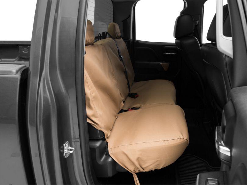 Covercraft SeatSaver 2nd Row Seat Cover - Tan (14-18 Silverado 1500 Double Cab, Crew Cab)