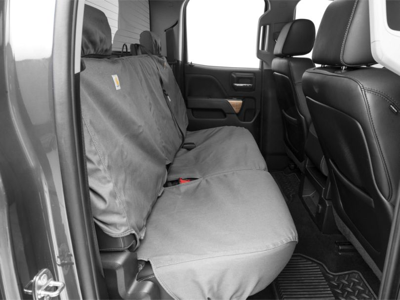 Covercraft Carhartt SeatSaver 2nd Row Seat Cover - Gravel (14-18 Silverado 1500 Double Cab, Crew Cab)