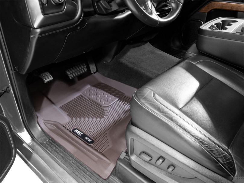 Husky X-Act Contour Front Floor Liners - Cocoa (14-18 Silverado 1500 Double Cab, Crew Cab)