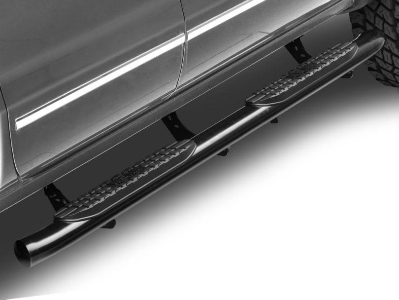 4 in. Pro Traxx Oval Side Step Bars - Black (14-18 Silverado 1500)