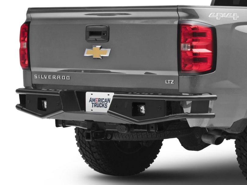 RedRock 4x4 Tubular Off-Road Rear Bumper w/ LED Work Lights (07-18 Silverado 1500)